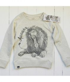 Lion of Leisure Oatmeal Lion Sweatshirt - Little Mooshoo Cool Boys Clothes, Lion, Kids Clothing Brands, Animal Design, Graphic Sweatshirt, T Shirt, Boy Outfits, Funny Animals, Organic Cotton