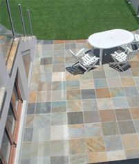SOFALA QUARTZITE   Sofala tiles and pavers contain an array of really appealing colours that livens rooms, verandahs and outdoor areas.    According to our customers these colours blend nicely with garden plants, pots and outdoor furniture but just as well with soft furnishings indoors.