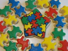 Autism Star cookie