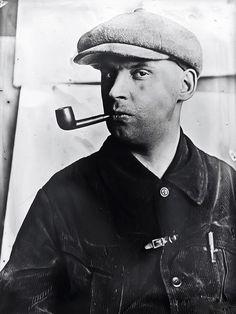 Varvara Stepanova - Alexander Rodchenko with a pipe 1924