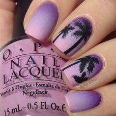 Ombre palm beach tree nail