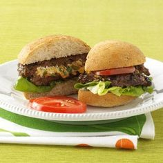 Stuffed Burger Recipes from Taste of Home, including Herb & Cheese-Stuffed Burgers