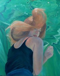 Part of the newest painting in the underwater painting series.  Crossfire Hurricane, 24x36 oil on linen canvas by Deborah Chapin  to purchase this piece contact the studio at gallery.deborahchapin.com