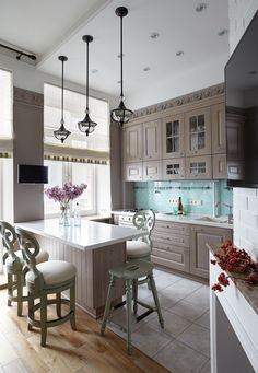 Ideas kitchen gray backsplash lights for 2019 Kitchen Dinning, New Kitchen, Kitchen Decor, Kitchen Cook, Kitchen Ideas, Grey Kitchens, Cool Kitchens, Kitchen Interior, Interior Design Living Room