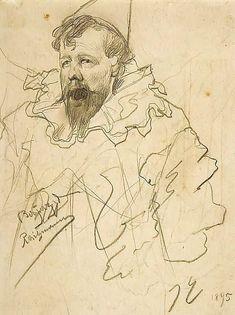 James Ensor - Self portrait Self portrait in Clown costume of the Belgian artist James Ensor (1860-1949) - New Tork:Metropolitan Museum of Art (USA) - Style:Symbolism 1895