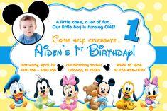Mickey Mouse 1st Birthday Invitations Ideas Pinterest Mickey