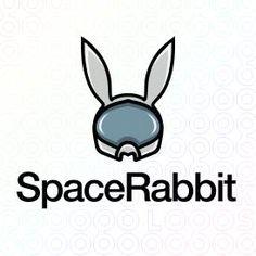 Creative Bunny Mascot Logo Design For Sale On StockLogos | Space Rabbit logo