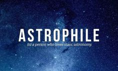 Happy Friday, everyone. Are you an Astrophile?