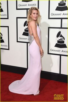 Ellie Goulding Stuns at Grammys 2016!: Photo #929605. Ellie Goulding is pretty in pink while arriving for the 2016 Grammy Awards held at the Staples Center on Monday (February 15) in Los Angeles.     The 29-year-old…