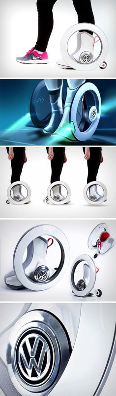 The Volkswagen Roller is a new-age roller skate. It's autonomous, and hands-free. The design comes with two main hubless wheels and two retractable rear wheels. Each roller comes with a hard-plastic s (Tech Design Geek)