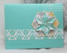 "Supplies used for the Eastern Elegance Get Well Card:  Hexagon Punch Coastal Cabana 8-1/2"" X 11"" Cardstock Eastern Elegance Designer Series ..."