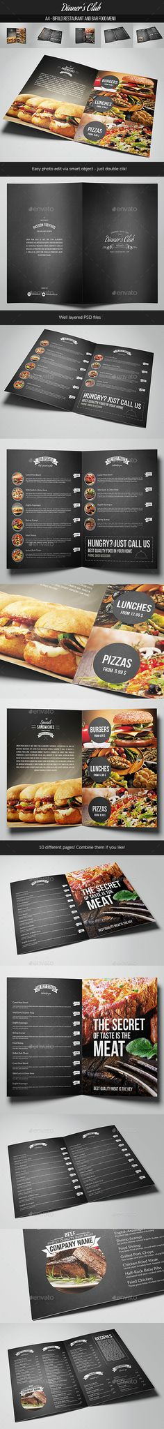 Restaurant & Bar Food Menu Template PSD #design Download: http://graphicriver.net/item/restaurant-bar-food-menu-/13728759?ref=ksioks
