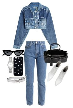 """Untitled #23561"" by florencia95 ❤ liked on Polyvore featuring Off-White, Yves Saint Laurent, Le Specs, STELLA McCARTNEY, Burberry and Miu Miu"