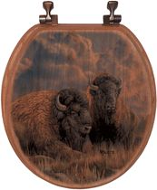 Distant Thunder Bison Toilet Seat