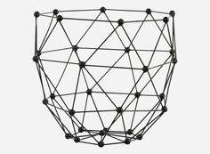House Doctor Korb schwarz Obstkorb Dekokorb Drahtkorb Eisenkorb Molecule Design in Möbel & Wohnen, Dekoration, Dekokörbe | eBay