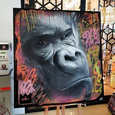 Likes, 58 Comments - Graffiti Street Art, Best Graffiti, Graffiti Characters, King Kong, Illustration Manga, Instagram King, Images, Button, Night