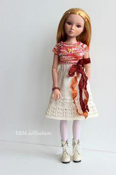"""R&M DOLLFASHION-OOAK handknit set outfit for ELLOWYNE WILDE TONNER 16"""" doll   eBay"""