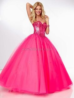 Ball Gown Sweetheart Tulle Floor-length Sequins Quinceanera Dresses -£108.99