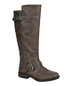 Look what I found on #zulily! Bamboo Taupe Quilted Stud Boot by Bamboo #zulilyfinds