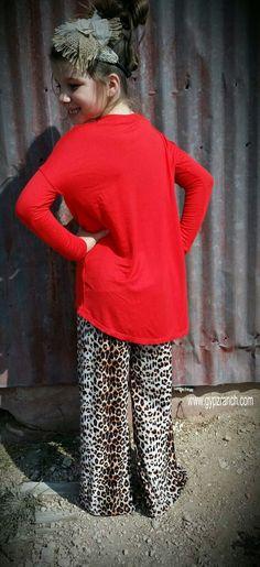 Kids - Simply Sweet Red Piko Dolman Shirt