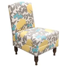 Peony Accent Chair.  Everyone needs an accent chair ven in a small apartment.  I am a traditionalist, but I have a an accent chair with a tiny leopard pattern.  It is a focal point in an otherwise traditional living room.