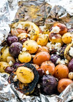 Greek Potato Foil Packs - Jo Cooks