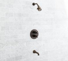 Warby Thermostatic Shower & Tub Set, Antique Bronze finish
