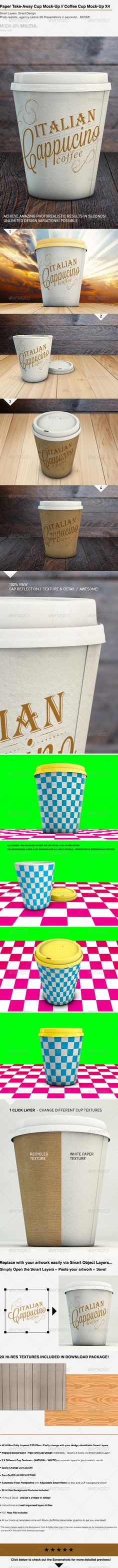 Paper Cup Mock-Up | Takeaway Coffee Cup Mock-Up - Food and Drink Packaging