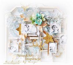 ENCZOWO: Świąteczna dekoracja_domek/ramka