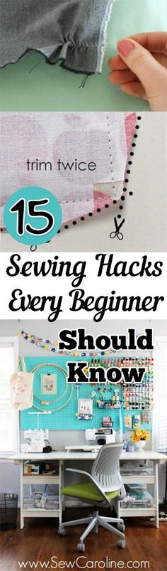 PIN 15 Sewing Hacks Every Beginner Should Know