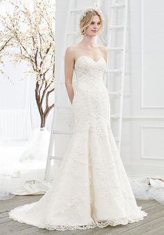 Strapless mermaid styled wedding dress with sheer illusion back and embellished lace I Style: BL210 Whimsy I Beloved by Casablanca Bridal I https://www.theknot.com/fashion/bl210-whimsy-beloved-by-casablanca-bridal-wedding-dress?utm_source=pinterest.com&utm_medium=social&utm_content=july2016&utm_campaign=beauty-fashion&utm_simplereach=?sr_share=pinterest