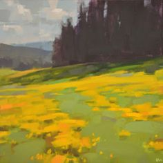 Carol Marine's Painting a Day: Golden Field