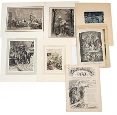 c. 15 pieces, prints, Christmas scene made of : Lot 3871