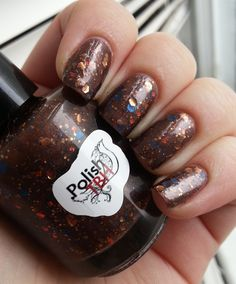 "Polish TBH's ""Chocolate Frogs"" two coats with two coats of topcoat"