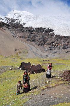 A peak 7190m in Himalaya mountains, taken from 5020m altitude