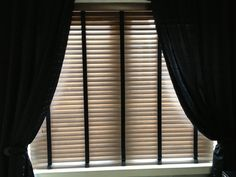 Wood blinds and curtains from finestra blinds