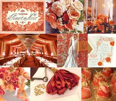 orange and red wedding
