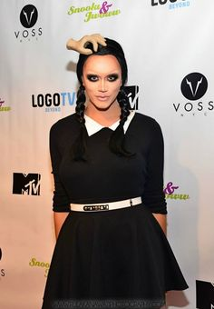 Manila Luzon as Wednesday Addams for Halloween. YES.