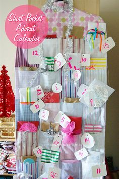Shirt Pocket Advent Calendar |  Carina's craftblog