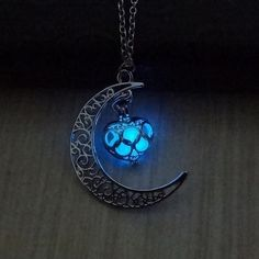 FUNIQUE Fashion Luminous Glow In the Dark Necklace Women  Sailor Moon Necklaces & Pendants Heart Necklace Anime Women Jewelry