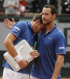 Nicolas Mahut and Michael Llodra, the french double pair in Roland-Garros