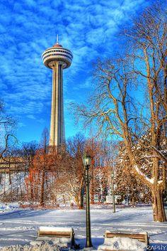Skylon Tower Niagara Falls, Canada - by James Marvin Phelps