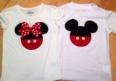 Twin mickey and minnie mouse shirts twin mickey by SewWhatFun, $32.00