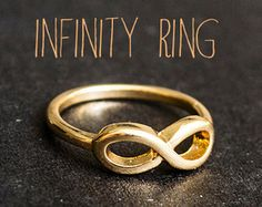 Un par de anillo amigo mejor infinito por MacaroonNotebook en Etsy