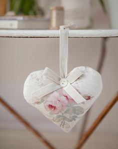Roses and Ribbons Heart by Peony and Sage