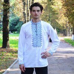 """Вишита сорочка - """"Орнамент"""" Колір:білий Рукав: довгий Матеріал: домоткане полотно машинна вишивка Ціна 470 грн"""