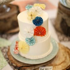Vintage Wedding Cakes , Wedding Cakes Photos by Kate Marie Photography