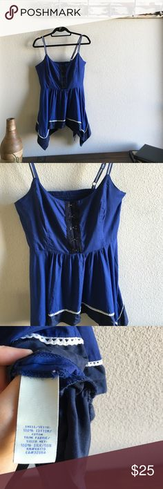 Odille Boho Tank Sz 10 Like new. Super cute corset closures in the front and the back is elastic and side zip  Anthropologie Tops Tank Tops