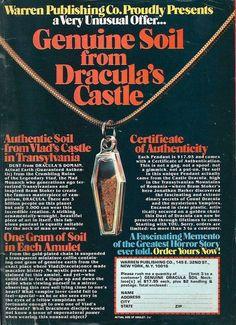 """Warren Publishing Co.'s """"Genuine Soil from Dracula's Castle"""""""