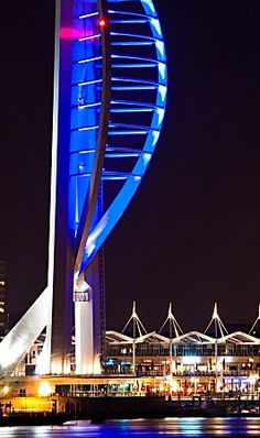 Spinnaker Tower, Portsmouth.. Portsmouth England, Hampshire, Marina Bay Sands, United Kingdom, Tower, The Unit, Island, City, Building